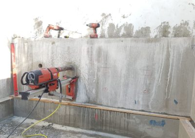 קידוח יהלום במשטח בטון