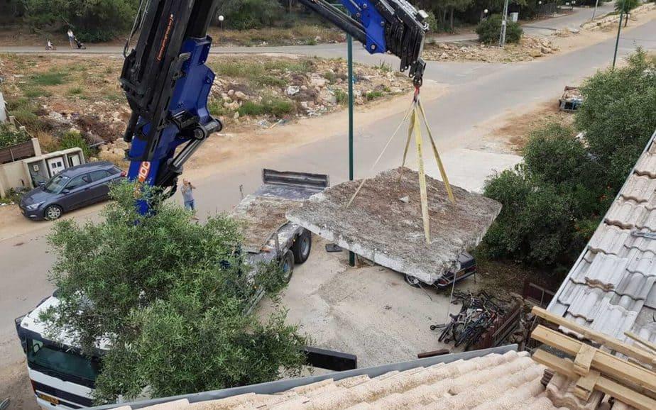 בדק בית בדירה לאחר שיפוץ הכולל ניסור בטון