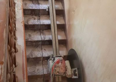 ניסור מדרגות בטון