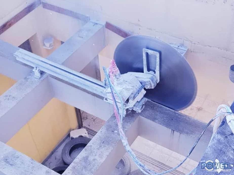 ניסור עמודי בטון