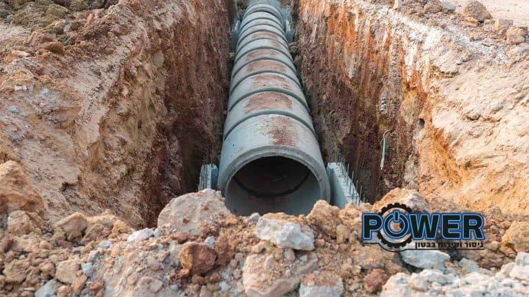 ניסור צינורות בטון