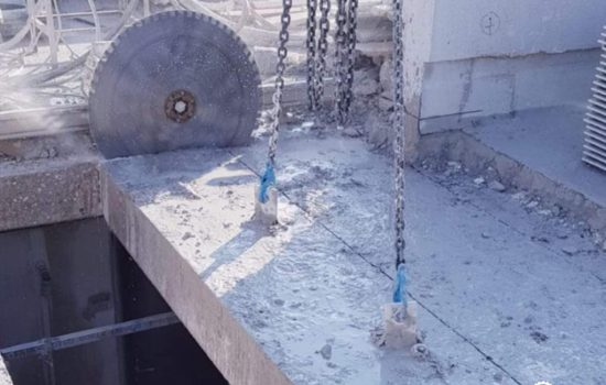 חיתוך תקרת בטון