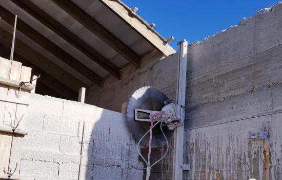 ניסור קירות בטון